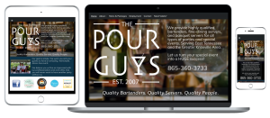 The Pour Guys responsive website
