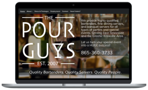 The Pour Guys website