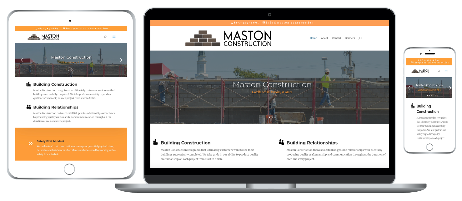 Maston Construction responsive website