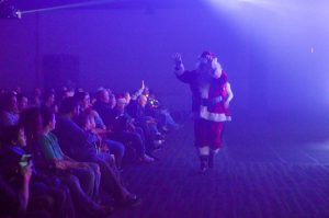 Santa with audience
