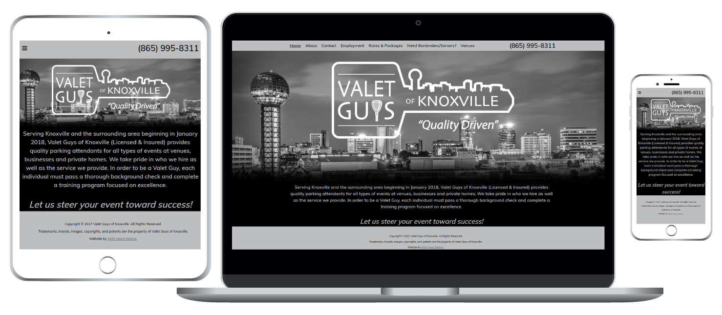 Valet Guys of Knoxville responsive website