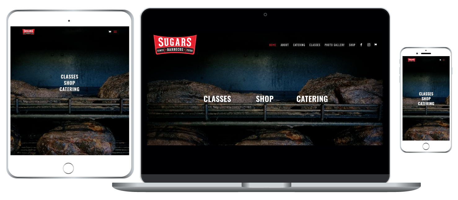 Sugars Barbecue responsive website
