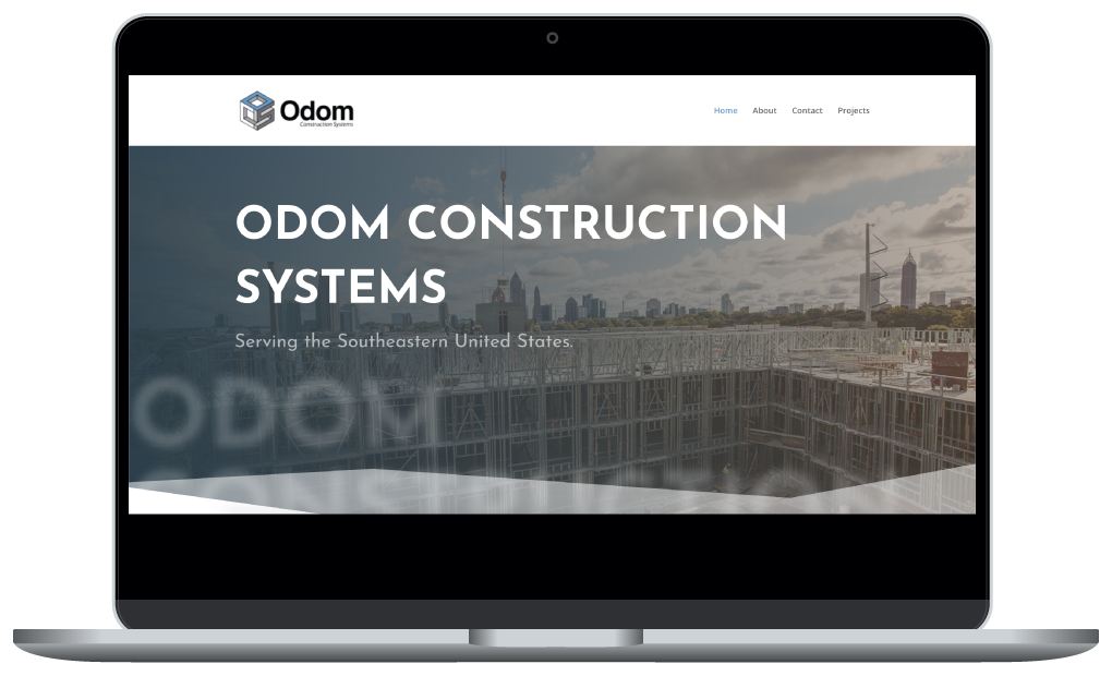 Odom Construction website