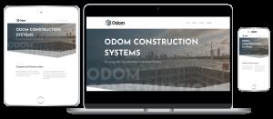 Odom Construction responsive website