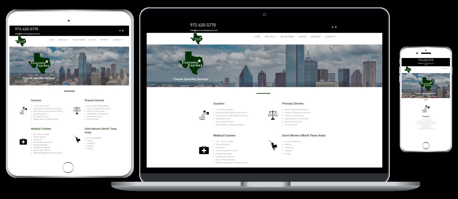Economy Express responsive website