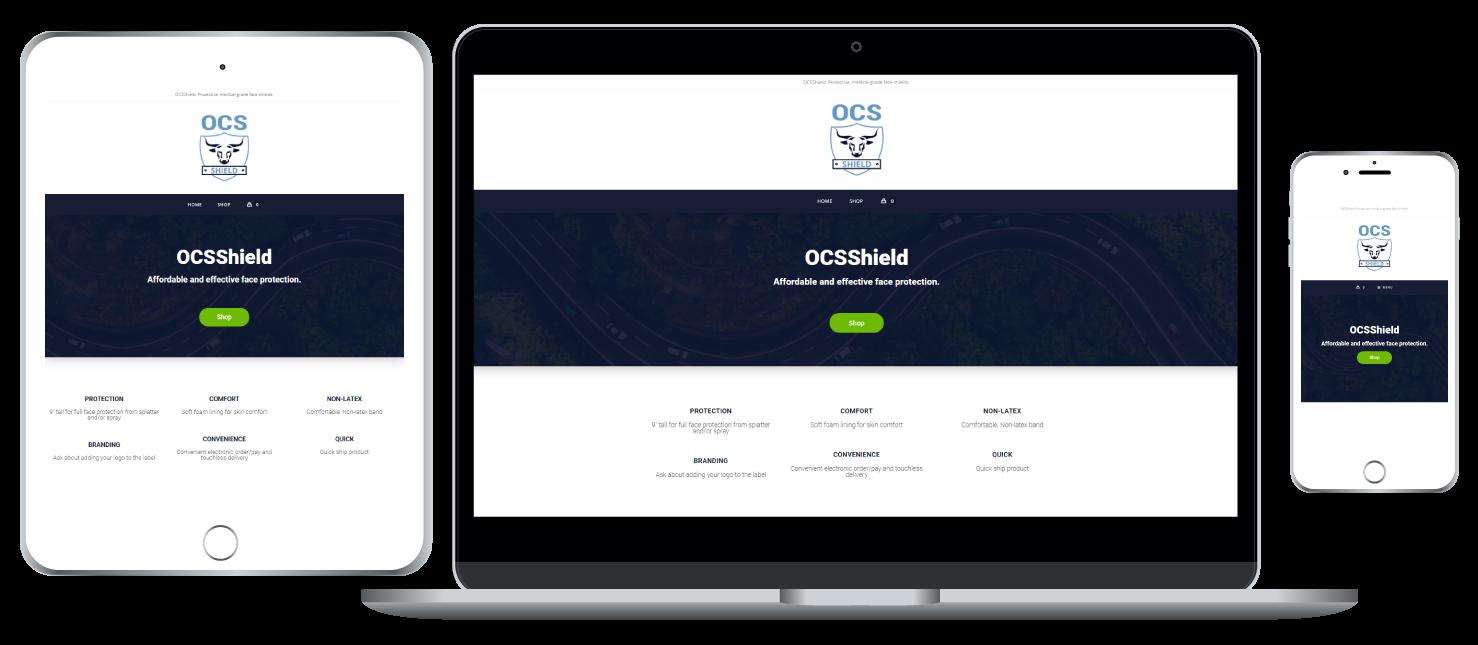 OCSShield responsive website