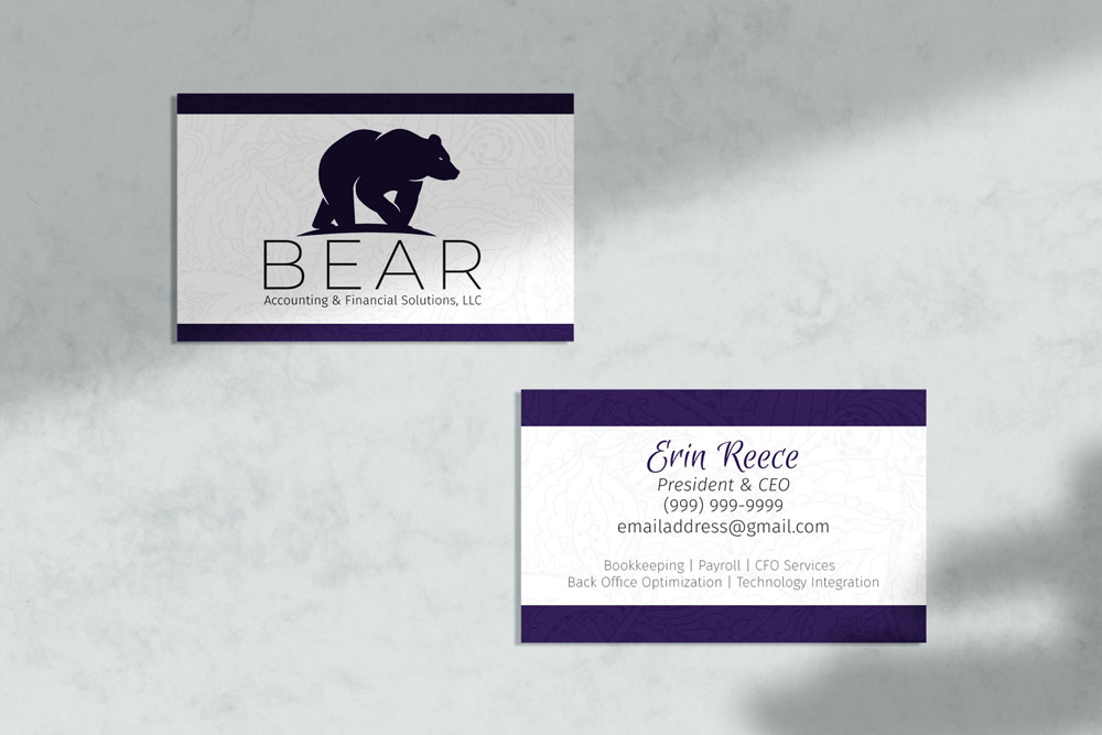 Bear Business Card Mockup