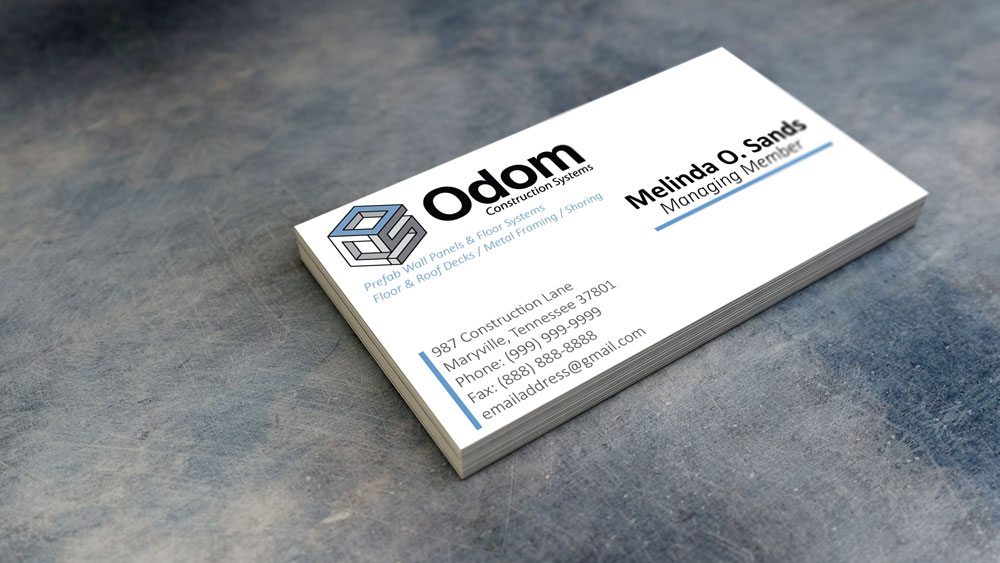 Odom Business Card Mockup