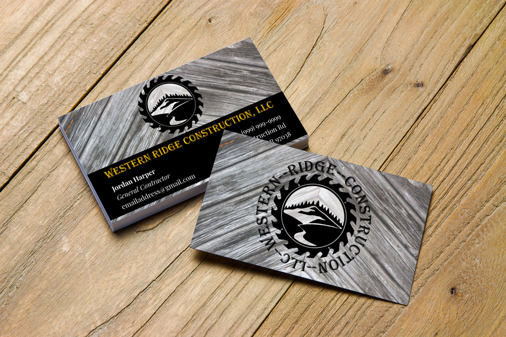Western Ridge Business Card Mockup