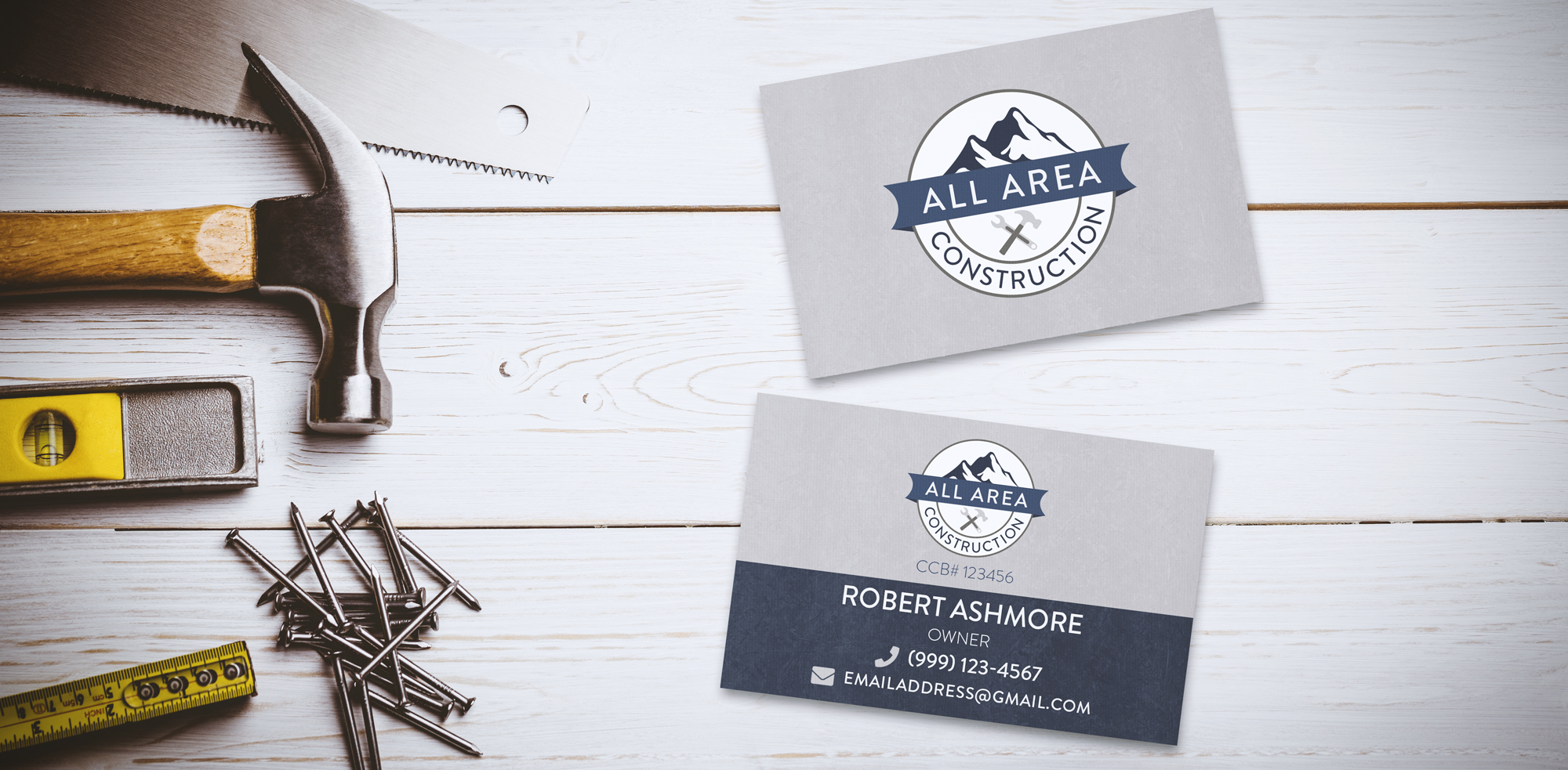 All Area Construction business cards