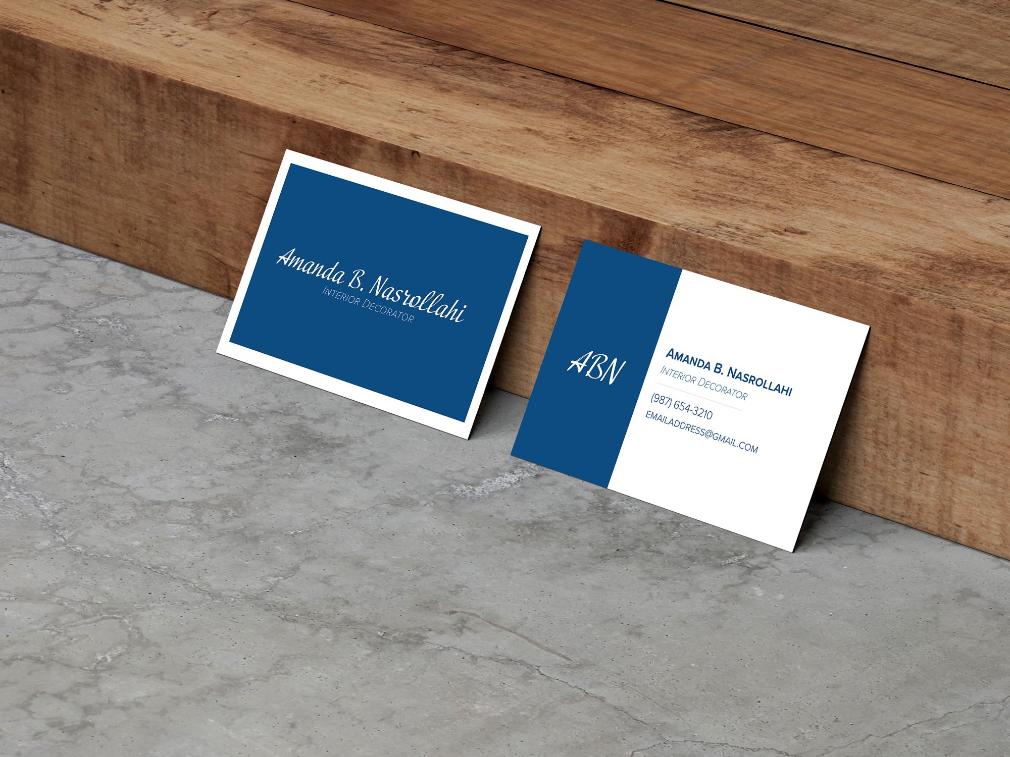 Amanda Nasrollahi business cards
